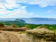 Taal volcano viewed from tagaytay ridge