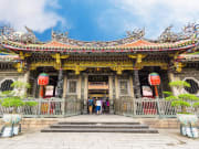 Taipei Longshan Temple entrance with visitors