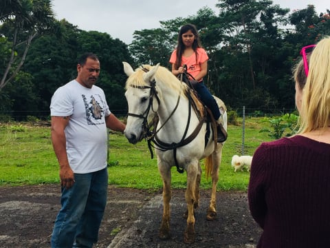 Scenic Oceanview Horseback Ride Tour with Waterfall Swim at
