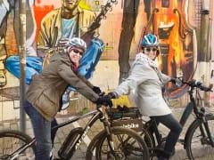 Grafiti at Psiri and two bikers