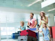 Airport Transfer family arriving at airport