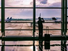 airport man airplane - u