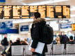 airport departure board - u