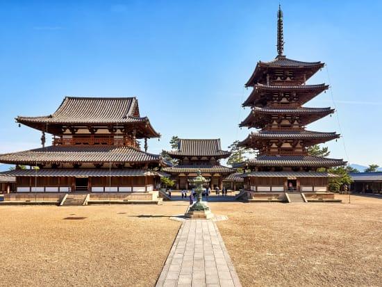 半日バスツアー 法隆寺+中宮寺 世界最古の木造建築物へ<ガイド付/JR ...