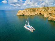 rock formations, algarve, boat, cruise