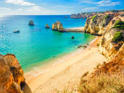 beach, Ponta da Piedade, Algarve region, Portugal