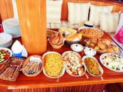 lunch, cruise, saronic islands, greece