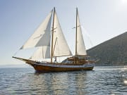 Wooden boat, greece, cruise