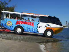 Aquaduck Driving into water