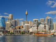 Australia Sydney Darling Harbour and sydney tower