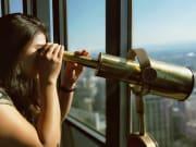 Sydney Tower observatory deck telescope