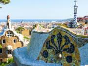 park guell, barcelona, spain, gaudi