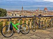 Italy, Florence, Piazalle Michelangelo, bike