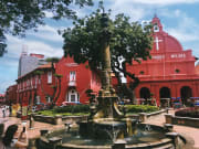 victorian fountain in front of ChristChurch Melaka