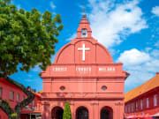 christ church malacca red facade