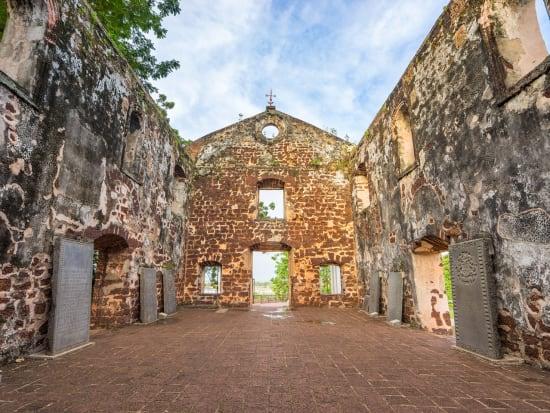 Malaysia Melaka Malacca St Pauls Church roofless