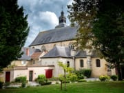 Saint-Pierre Abbey of Hautvillers with the grave of Dom Perignon in the Champagne district Vallee de la Marne in France - sh