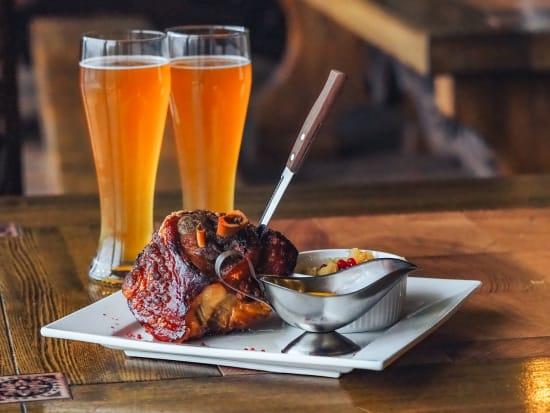 czech beer and pork knuckles