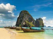 Thailand_Krabi_Phra Nang Long tail boat