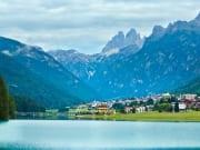Italy, Dolomites, mountain lake Auronzo di Cadore