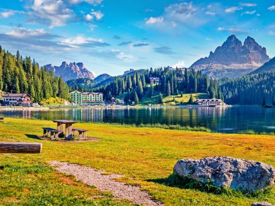 Italy, Auronzo di Cadore, Misurina Mountain Lake