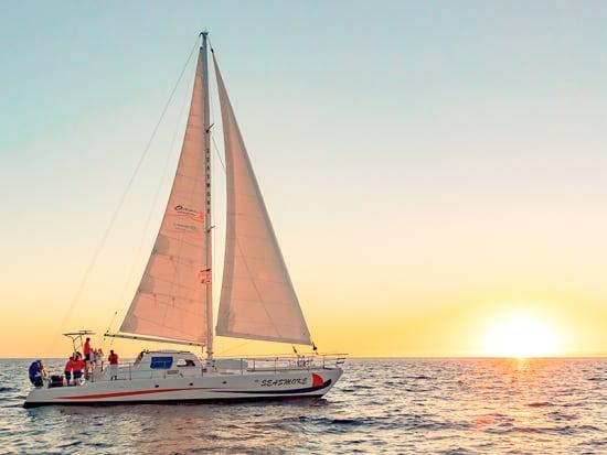 Sailing Catamran Seasmoke - Courtesy of Ocean Sports