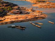 Thailand Mekong River small boats