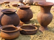 Thailand Ban Chiang red painted pottery