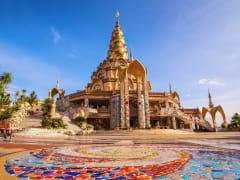 Thailand Wat Pha Sorn Kaew colorful mosaic tiles