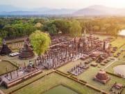 Aerial view of Sukhothai Historical Park Thailand