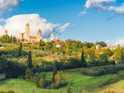 San Gimignano before sunset