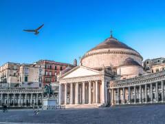 Italy, Naples, Piazza del Plebiscito