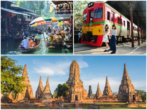 人気観光地 凝縮ツアー(アユタヤ/水上マーケット/メークロン線路市場) | バンコクの観光・オプショナルツアー専門 VELTRA(ベルトラ)