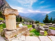 Greece, Delphi, Ancient Greek Column