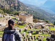 Greece, Delphi, Tourist