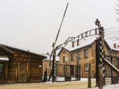 Auschwitz-Birkenau Concentration Camp Entrance