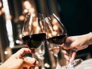 Dinner, Wine Glasses