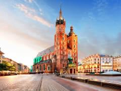 cracow, st mary's church, krakow, poland
