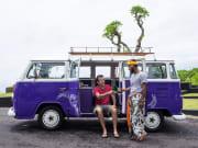 VW Kombi Bali on the road at Batu Ngaus