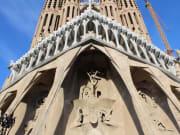 barcelona, sagrada familia, close up - u