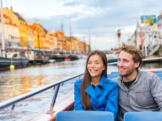 copenhagen, couple, canal cruise