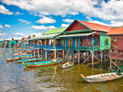 See the floating villages of Tonle Sap Lake