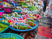 Maeklong Railway Market Produce Bangkok