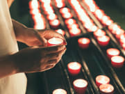 Candle, Hands, Lights
