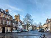 market sq in Woodstock in the Cotswolds England