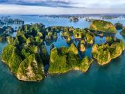 Limestone formations Ha Long Bay