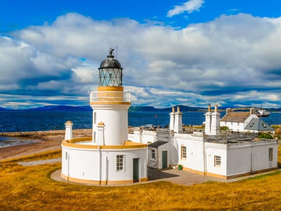 Cromarty Lighthouse at Cromarty Firth in the Scotland