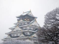 Osaka Castle, Japan, Snow