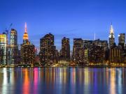 USA_New York_Manhattan_Susnet Skyline