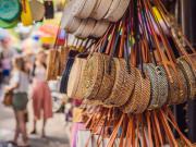Bali Pasar Market Indonesia Rattan Bags